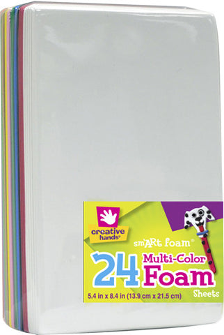 Foam Sheets 24 pc multi
