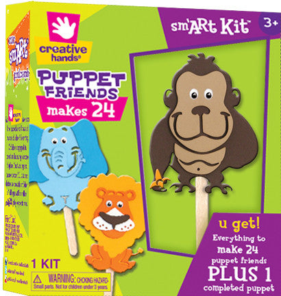 Create your own puppet jungle friends