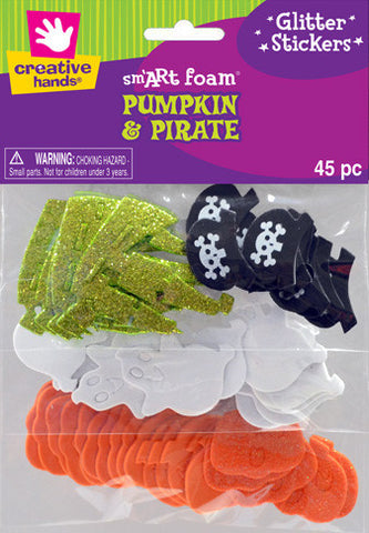 Pumpkin and Pirate Stickers