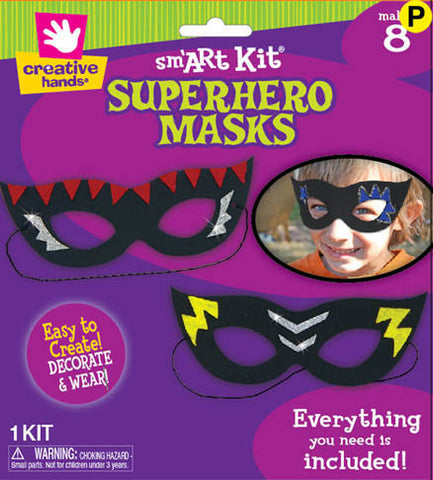 Superhero Masks -Makes 8