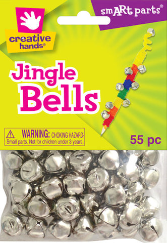 Jingle Bells 13mm 55pc Silver