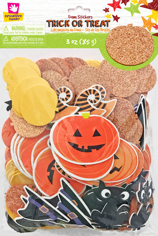 Trick or Treat Foam Stickers