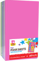 Foam Sheets 50 pack Bright