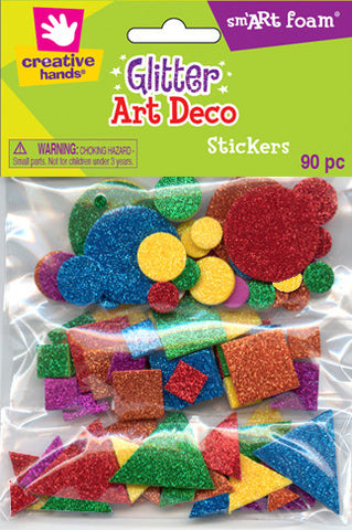 Glitter Art Deco Stickers