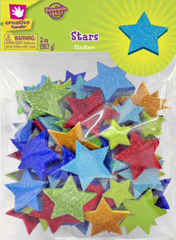 Glitter Star Stickers