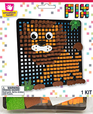 Lion Pixelated Craft Kit