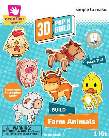3D Pop 'n Build Farm Animals