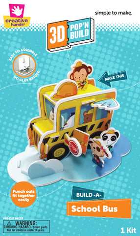 3D Pop 'n Build School Bus