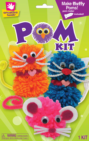 Cat and Mouse Pom Pom Creature Kit