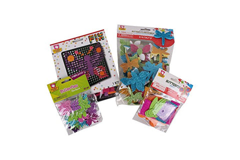 Creative Hands - Butterfly And Dragonfly Bundle - Butterfly Craft Kit - Arts And Crafts For Kids - 4 Items