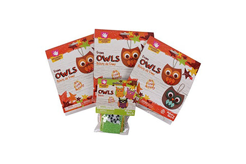 Creative Hands - Owl Play Date Bundle - Owl Foam Craft Kit - Arts And Crafts For Kids - 2 Crafting Kits Included