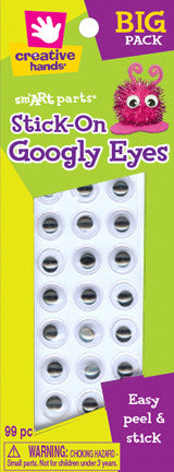 Stick-on Googly Eyes, 10mm