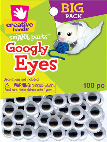 Googly Eyes, Black and White, 10mm