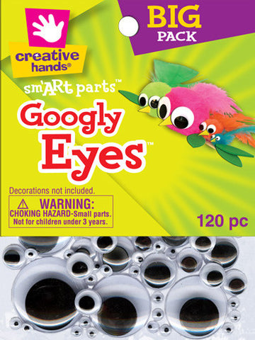Googly Eyes, Black and White, multi-size