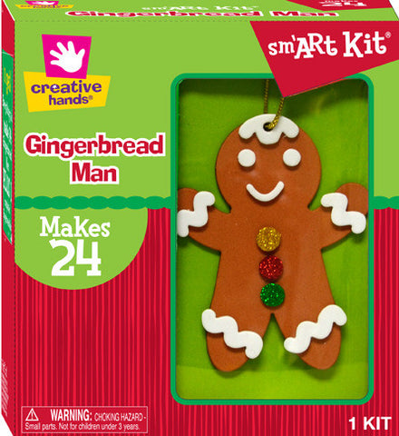 Gingerbread Man Ornaments - Makes 24 Ornaments!