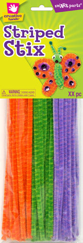 Striped Chenille Stems