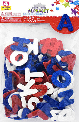 Americana Glitter Sticker Bag Letters