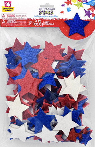 Americana Glitter Sticker Bag Stars