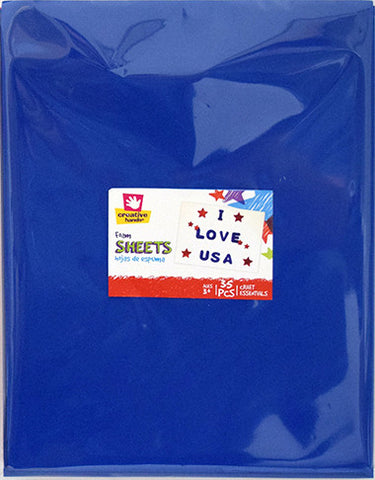 Americana Foam Sheets -12 pc Red/White/Blue