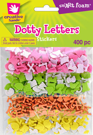 Multicolor Dotty Letters