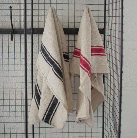 Striped Kitchen Towels, Set of 4