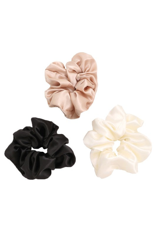 Satin Set of  3 Scrunchies