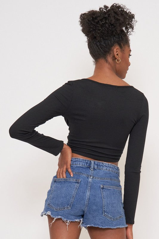 Bianca Long Sleeve Crop