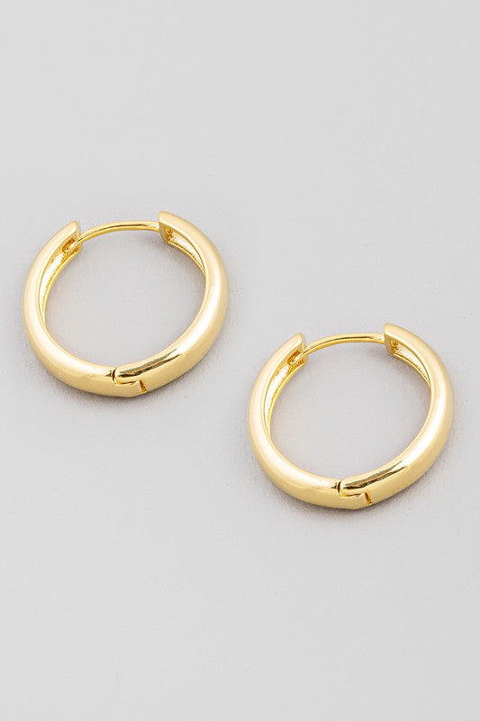 Thick Mini Gold Hoops