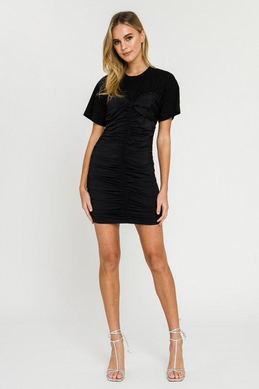 T-Shirt Ruched Dress