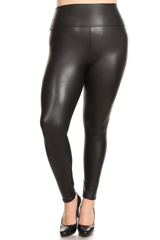 Plus Size Black Out Leggings