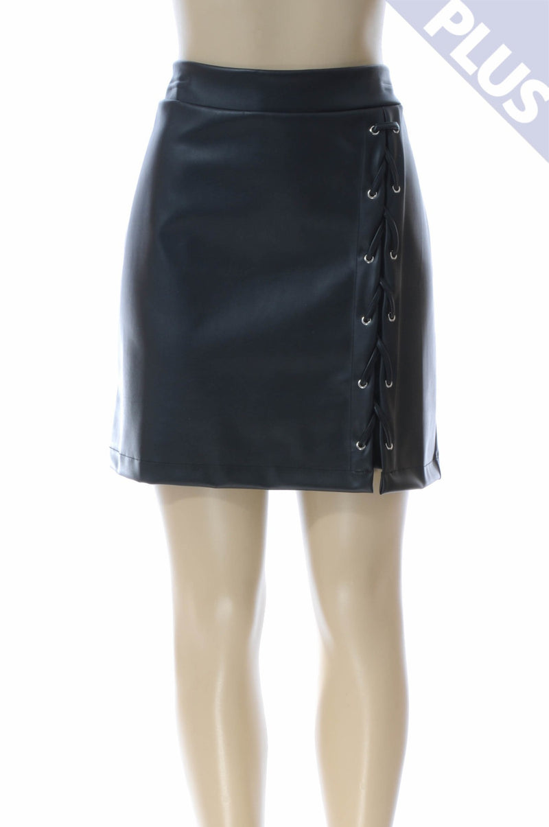 Taki Lace up Skirt Plus