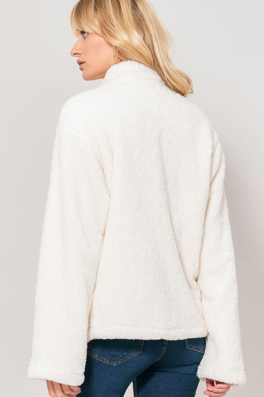 Faux Fur Zip  Jacket