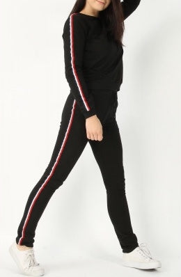Sherry Stripe Top & Jogger Lounge Set