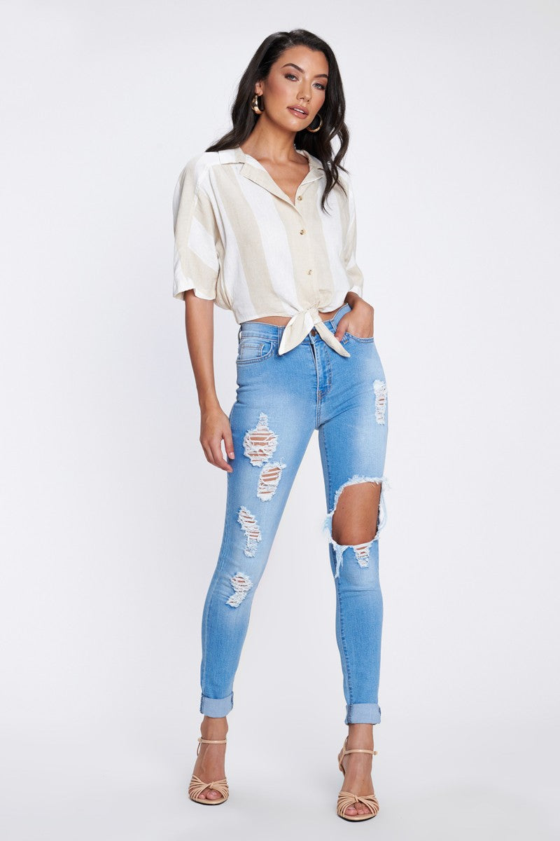 Steph Distressed Jeans