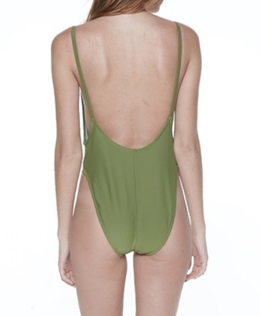Olive One Piece Swim suit