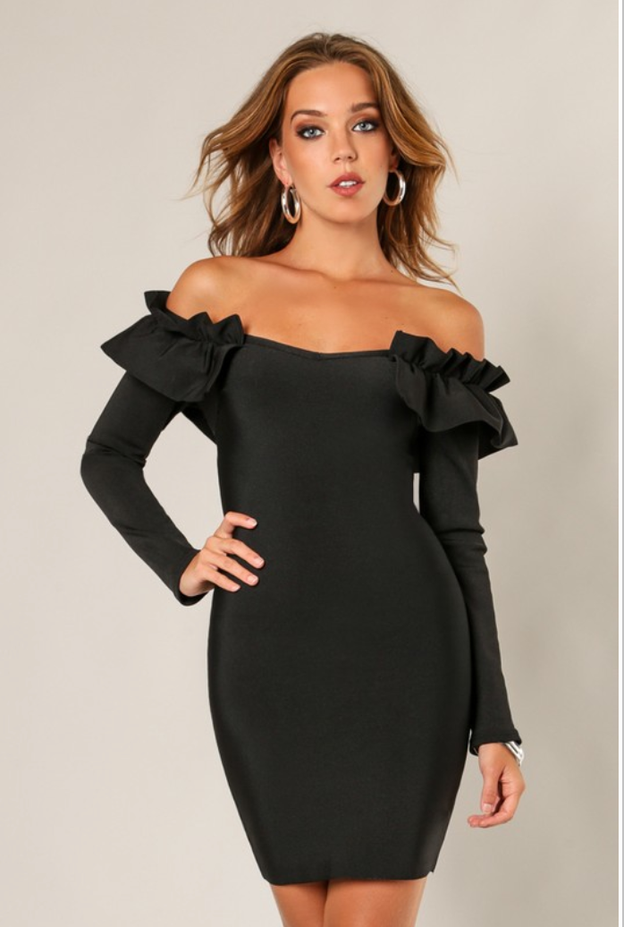 Bandage Ruffle Dress