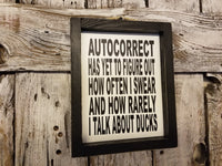 Autocorrect Framed Sign, funny signs