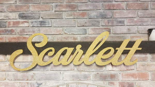 Scarlett cutout sign