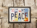 Peace License Plate Sign, License Plate Decor