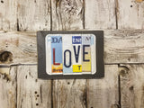 Love License Plate Sign, License Plate Decor