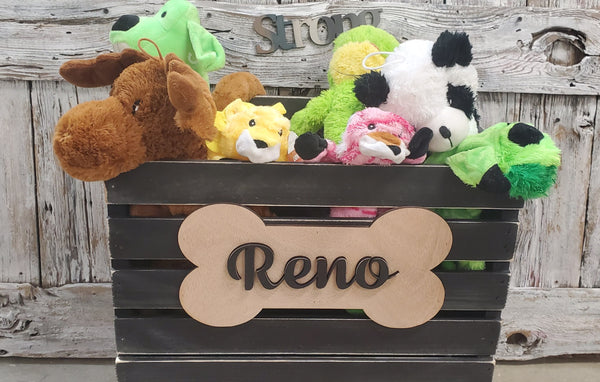 Dog Toy Crate, pet toy storage, cat toy box, custom toybox