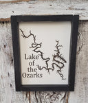 Lake of the Ozarks Framed Wood Sign