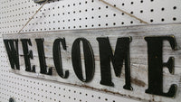 WELCOME Front Porch Sign Cutout Wooden Sign Welcome Rustic  KC sign - Cutout Sign Porch Sign