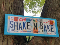 License Plate Sign License Plate letter Art Picture Home Shake N Bake License Plate Letter Sign family sign