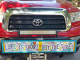 License Plate Sign License Plate letter Art Picture Home Deco Life Is Short Buy The Shoes License Plate Letter Sign