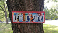 License Plate Sign License Plate letter Art Picture Home The Bungalow License Plate Letter Sign family sign