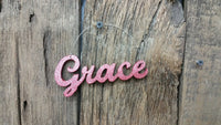 Christmas Ornament, Christmas Tree Sign, Tree Ornaments, GRACE, Ornaments, Wine Topper, Wood Word Sign, Christmas Decor