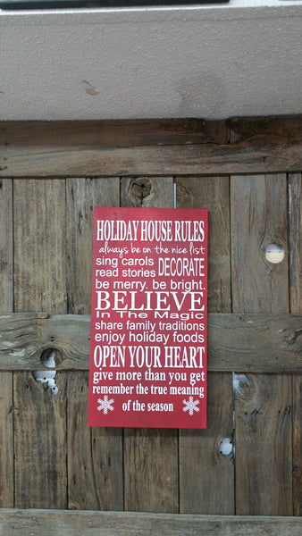 Christmas Rules sign, Christmas Decor, Believe in Magic, Holiday House Rules, Believe In the Magic, Holiday Sign, Christmas Gift, Holiday