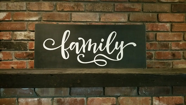 Family Sign, Large Painted Sign, Home Sign, Dining Room Decor, Living Room Decor, Rustic Home Decor, Rustic Sign,