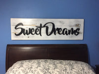 Queen Headboard King Headboard Twin Headboard Cutout  Bedroom Decor  20 x 56 Sweet Dreams Name Cutout Word Art Sign Statement Piece